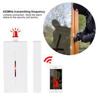 433MHz Wireless Door Window Sensor Magnetic Switch Home Alarm System Detector DY