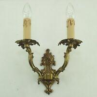 Antik Rokoko Stil Wandlampe Messing NEUE Verkabelung Fassungen Kerzenhülsen 2-fl