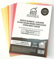 Create & Craft Colour Shades A4 Pearlescent 250GSM Crafting Cardstock 50 / 60 pk