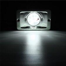 MARINE BOAT LED STERN LIGHT RECTANGULAR STAINLESS STEEL SPLASHPROOF FLUSH MOUNT