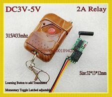 Mini Small Volume Remote Control Switch Micro 3V 5V Relay Receiver 3.7V 4.5V 5V
