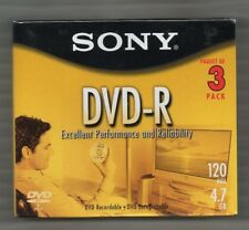 Sony DVD-R 3 pack 120min 4.7gb New Unopened