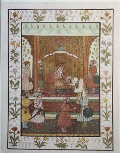 Original Miniature Mughal Style Indian Sikh Hindu Traditional Art Hand Painting