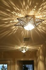 """Moravian ceiling Star  Metal and frosted glass 18"""" X 18""""  X 8"""""""
