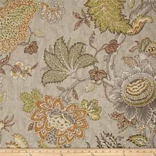 """P Kaufmann Fabrics Upholstery 55% Linen/45%Rayon Finley Blend Platinum 54"""" W"""