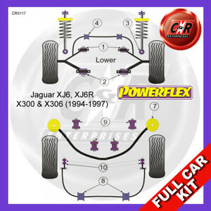 Fits Jaguar XJ6, XJ6R X300 & X306 (94-97)  Powerflex Complete Bush Kit