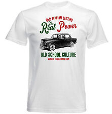 VINTAGE ITALIAN CAR FIAT 1200 REAL POWER - NEW COTTON T-SHIRT