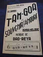 Partition Tam-Goa Souvenirs de nos amours de Dad Reya