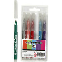 6 Glitter Marker Glitzerstifte zum gestalten von Karten Art Maker Glitterfarben