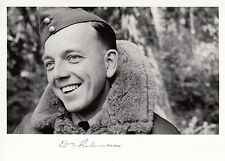 RAF Battle of Britain pilot ROBINSON signed photo WWII WW2