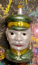 """Large Kaiser Bust: """"Vintage Style"""" Ornament Blown in Lauscha, Germany"""