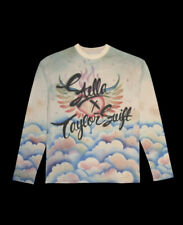 More details for stella x taylor swift clouds airbrush long-sleeve tee pullover lover era bnip!!