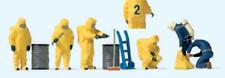 Preiser 10733 Fireman in Yellow Chemical Resistant Suits (PK6) HO Gauge