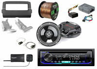 "JVC Radio + Dash Kit +Controls, 2x 6.5"" Speakers + Harness, SiriusXM Tuner, Wire"