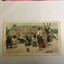 A Pima Wickiup Indian Mexican Hut Unposted Undivided Postcard