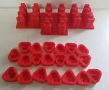 20 Pack 3D Printed Tool & Battery Holders Made For Milwaukee M12 Red