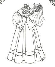 "Sewing Pattern doll size 31-32""  Dress hat French Fashion Lady Grace 894"