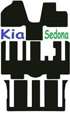 Qualità Su Misura Deluxe Tappetini auto Kia Sedona 2006-2012 ** Nero ** MPV