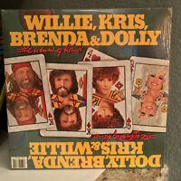 "WILLIE, KRIS, BRENDA, DOLLY - Winning Hand - Double 12"" Vinyl Record LP - VG+"