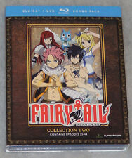 Fairy Tail Collection 2 Two Parts 3 & 4 Blu-ray/DVD Combo Box Set - NEW SEALED