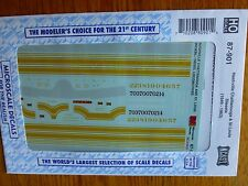Microscale Decal HO  #87-901 Nashville Chattanooga & St Louis Diesels (1949-1963