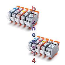 10 Ink for CANON IP4300 IP5200 MP500 MP600 MP610 MP810 MP830 MX850 PGI-5BK CLI-8