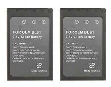 2 Batteries BLS-1 BLS-01 PS-BLS1 for Olympus Evolt E-400 E-410 E-420 E-450 E-620