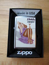 Zippo Pin-up Girl 1940's Rockabilly Nose Art Urban Style US Army V8 Wk2 WWII OVP