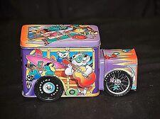 Old Vintage Colorful Malibu Cruiser Cartoon Characters Theme Litho Tin Box Truck
