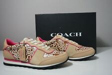 Coach X Limited Edition Keith Haring Leather Beechwood/Fuchsia Sneaker FG1003 10