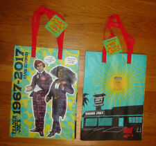 NEW TRADER JOE'S QTY 2 REUSABLE SHOPPING GROCERY ECO BAGS LE 50 YEARS 1967-2017