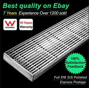 316 Stainless Steel Wedge Wire Designer Linear Bathroom Shower Grate Drain