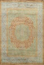 BLACK FRIDAY DEAL Geometric GREEN Mamluk Oriental Area Rug Wool Handmade 8x10