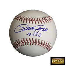 """PETE ROSE SIGNED AUTOGRAPH BASEBALL ROMLB WITH """"4256"""" INSCRIPTION PSA/DNA"""