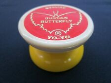 Vintage Duncan Yo-Yo Genuine Butterfly Yoyo Monroe Classic Yellow Red EXCELLENT