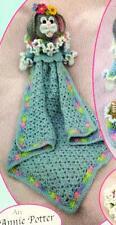 Adorable Baby Bunny Nursery Set Crochet Security Blanket Afghan Bottle Holder