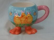 Galerie Unusual Easter Chick Mug with Duck Feet 16 oz.