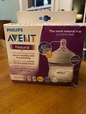 Philips Avent Natural Baby Bottle Clear Wide Neck Bottles 4oz set of 2