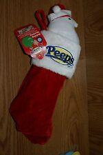 Peeps Christmas Stocking w/ White Christmas Chick & Marshmallow Candy Cane peeps