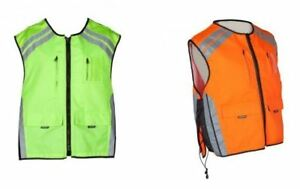 Spada Hi-Viz Unisex Waistcoat With Pockets For Motorcycle Motorbike