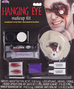 Gouged Out Hanging Eye Horror Zombie Bloody Makeup Appliance Prosthetic Kit