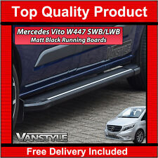 MERCEDES VITO W447 14> COMPACT & LONG BLACK SIDE STEPS RUNNING BOARD SIDE BARS
