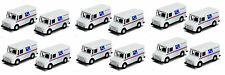"""12 x USPS TRUCK United States US Postal Service mail delivery diecast model 4.5"""""""