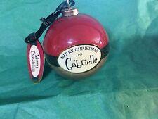 MERRY CHRISTMAS to GABRIELLE Paper Mache Ball Ornament STOCKING STUFFER Teacher