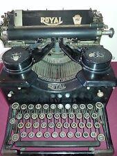 Antique Royal Typewriter 10 Bevel Glass