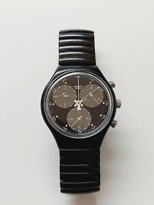 Nice Men's SWATCH Wall Street AG-1990 Quartz Swiss Made Retro Watch/New Battery