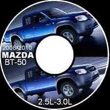 MAZDA BT50  BT-50  2.5L 3.0L Deisel 2006-2007-2008-2010 WORKSHOP MANUAL CDROM