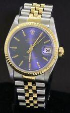 Rolex Datejust 31 68273 SS/18K gold elegant Blue dial midsize watch