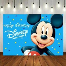 Mickey Mouse Photography Backdrop Birthday Party Photo Background Decoration
