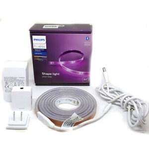 """Philips Hue Bluetooth White and Color Ambiance 80"""" Shape Light Lightstrip Corded"""